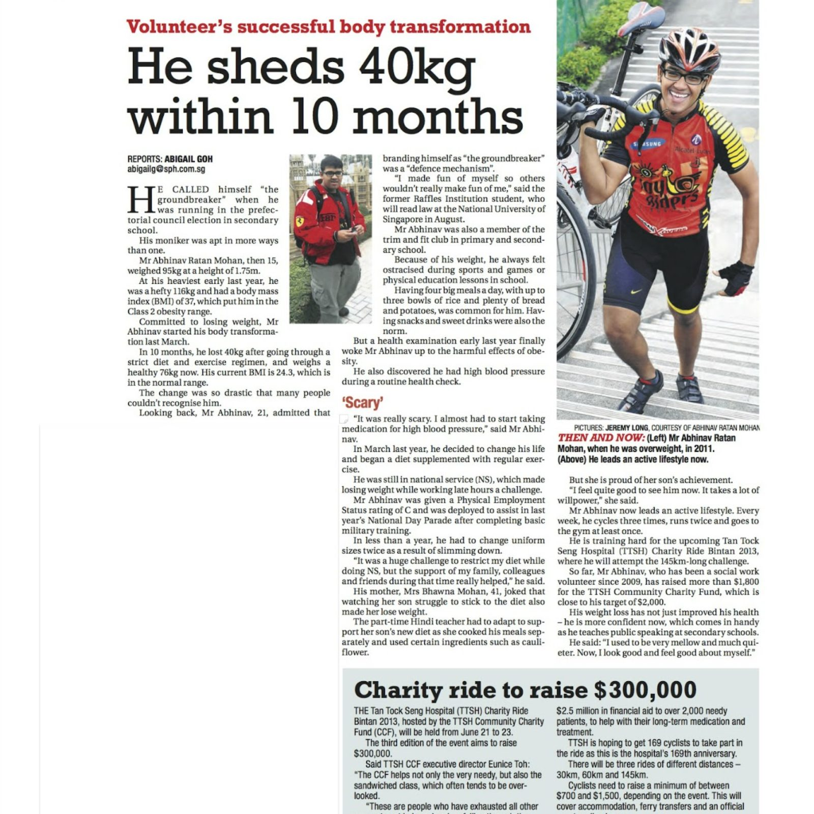 070513 TNP He sheds 40kg within 10 months